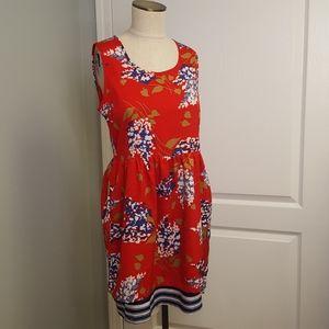 Anthropoligie Red Porridge Petaluma Dress